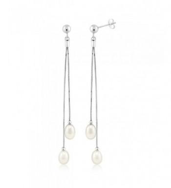 Womens Sterling Cultured Freshwater Earrings