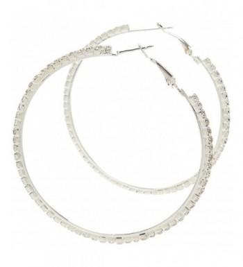 Earrings Silver Crystal Hoops Kikis