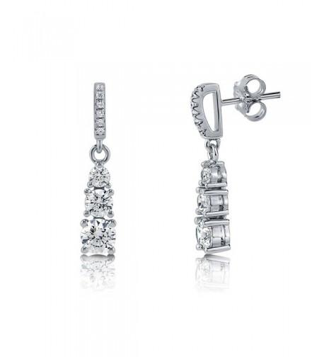 Sterling Graduated Earrings Swarovski Zirconia