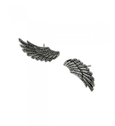 apop nyc Sterling Feather Earrings