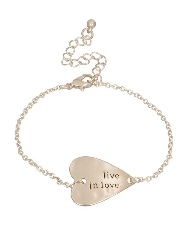 Heirloom Finds Sideways Heart Bracelet