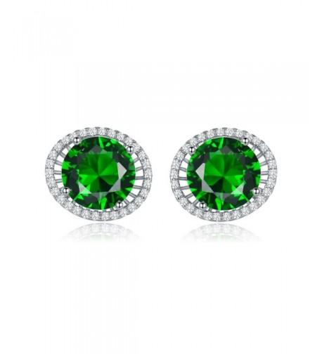 MASOP Womens Silver Zircon Earrings