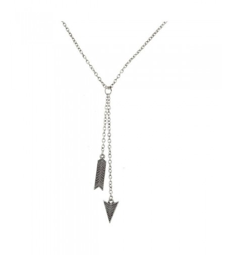 Lux Accessories Burnished Silvertone Necklace