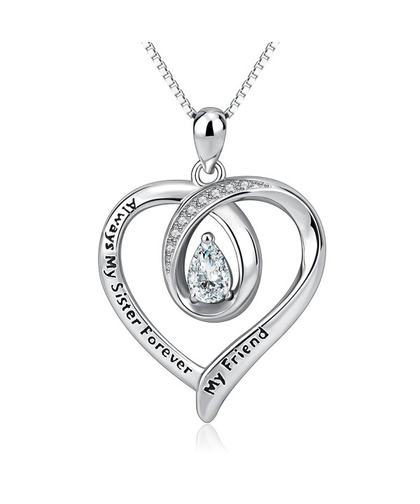 AOBOCO Sister Necklace Sterling Forever