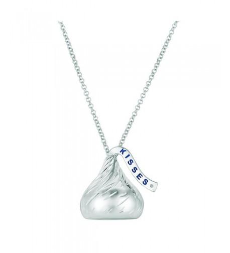 Sterling Silver Hershey Pendant Diamond