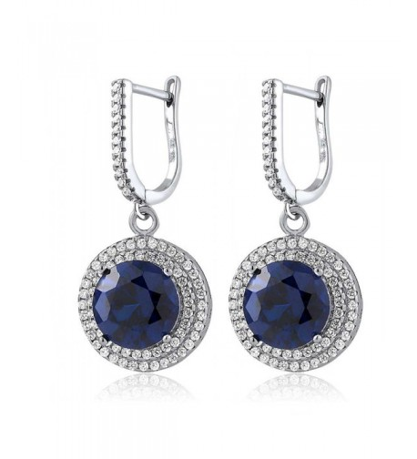 Sterling Silver Simulated Sapphire Earrings