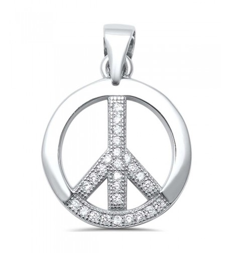 Sterling Silver Round Zirconia Pendant