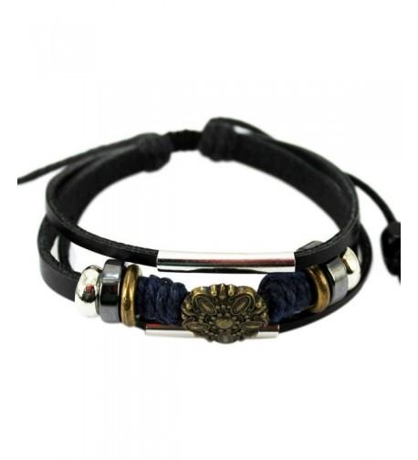 Christmas Multistrand Leather Adjustable Bracelet