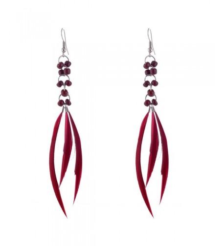 Bohemian Jewelry Feather Earrings Decoration