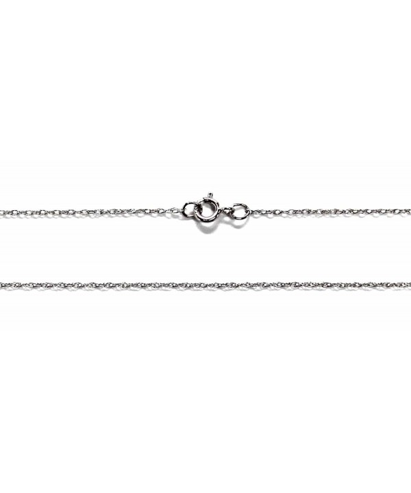 White Solid Dainty Chain Spring