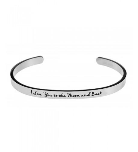 Inspirational Messaged Bracelet Bangle White