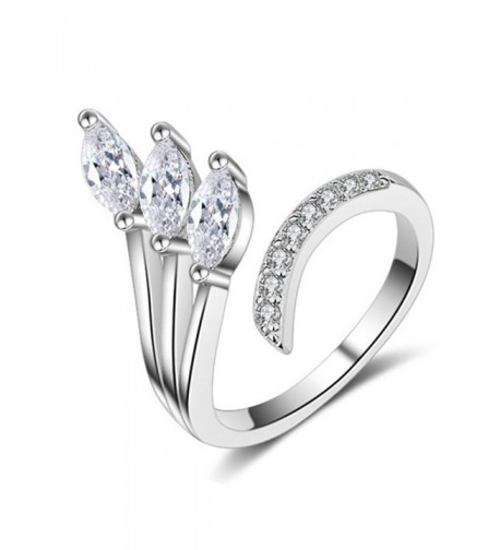 Silver Plated Cubic zirconia adjustable