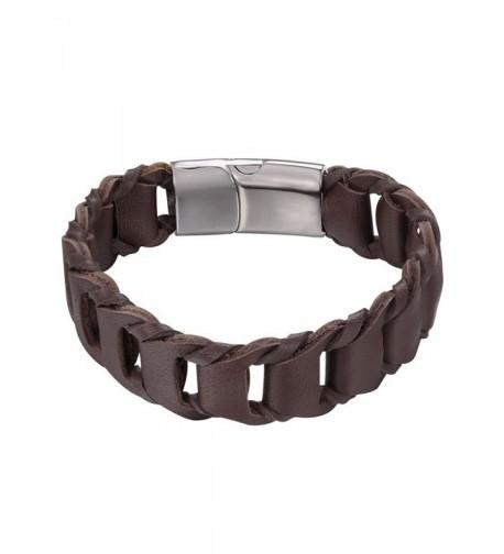 U7 Leather Bracelet Simple Wristband