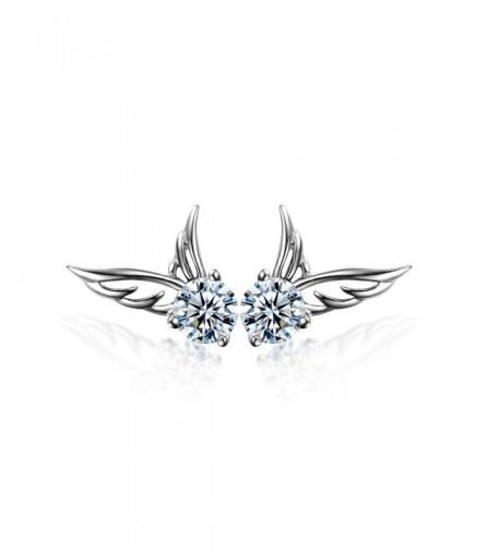 Angel Earrings Crystals Swarovski Plated