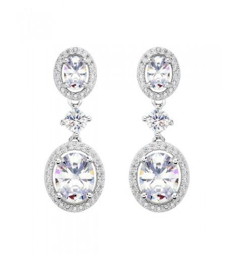 EVER FAITH Sterling Luxurious Earrings