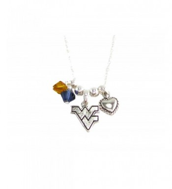 Virginia Mountaineers Austrian Crystal Necklace