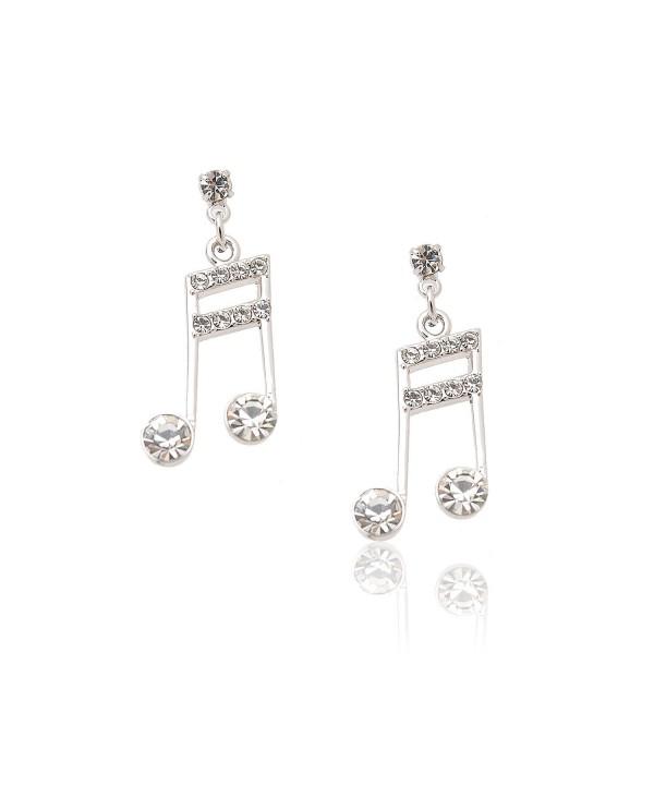 Spinningdaisy Silver Plated Ottava Earrings