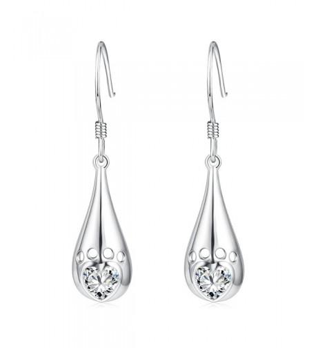 YFN Teardrop Sterling Hollowout Earrings