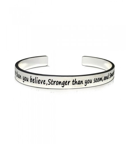 Braver Believe Stronger Smarter Bracelet