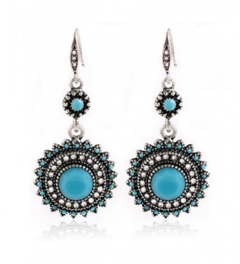 EVERRICH Synthetic Turquoise Zirconia Blooming