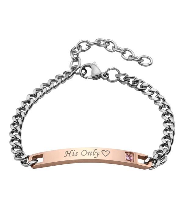JOVIVI Stainless Couples Bracelets Matching