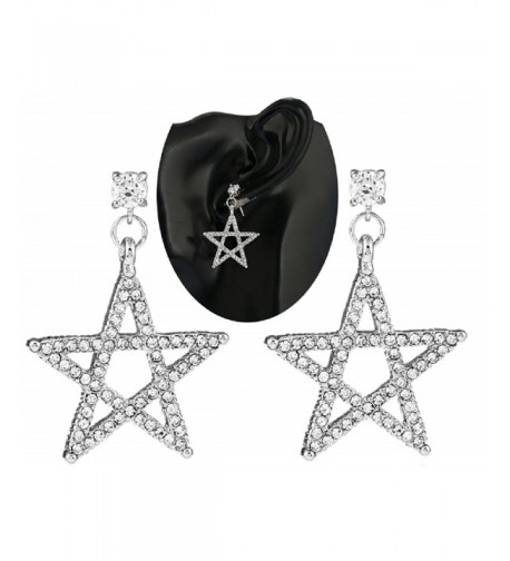 SUNSCSC Crystal Rhinestone Dangle Earrings