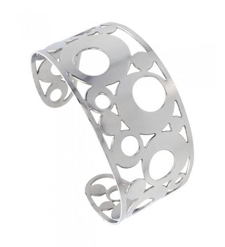Stainless Bracelet Bubble Pattern Cut out