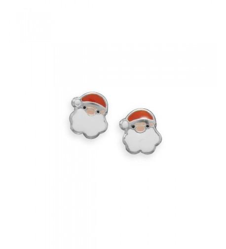 Santa Claus Earrings Sterling Silver