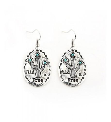 Sujarfla Cactus Earring Pendant silver