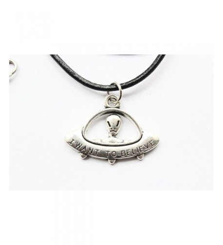 Believe Necklace ancient Silver Leather