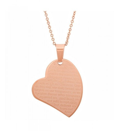 Ladies Plated Stainless Pendant Slanted