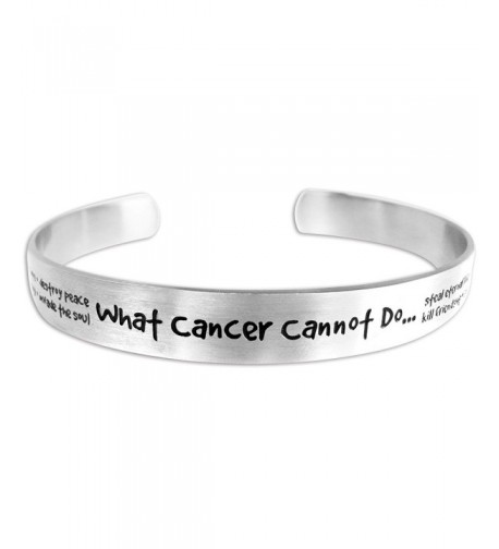 Cancer Cannot Bracelet Etched Stainless