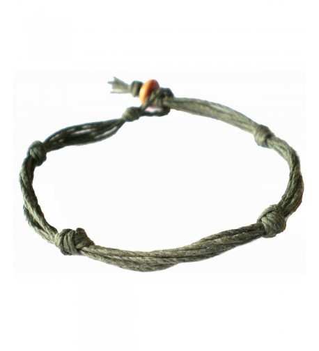 Army Green Love Knot Anklet