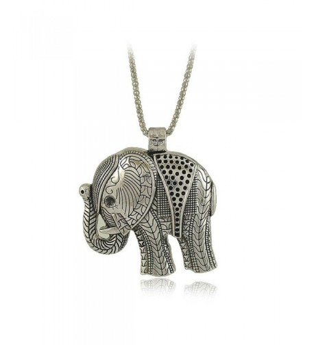 Bowisheet Elephant Pendant Necklace Jewelry
