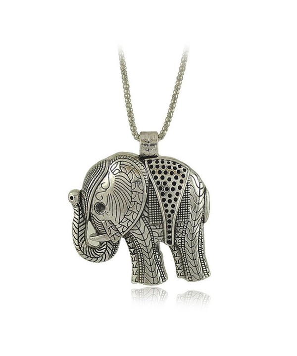 Bowisheet Elephant Pendant Necklace Jewelry