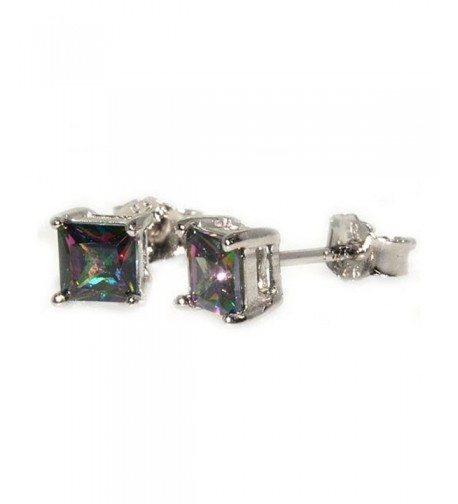 Earrings Princess Rainbow Zirconia Sterling