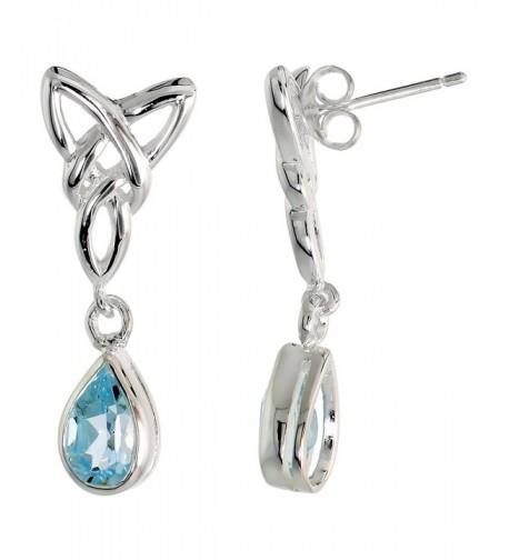 Sterling Silver Triquetra Earrings Teardrop