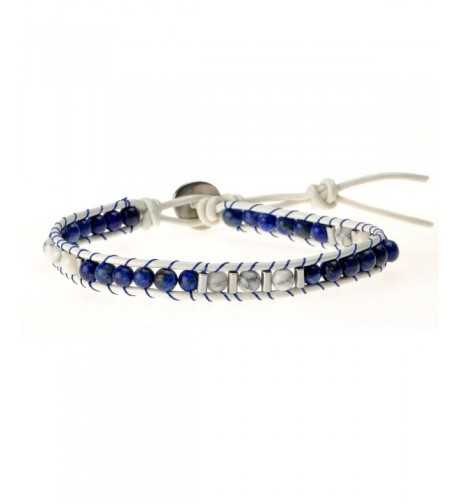 ZLYC Beaded Leather Adjustable Bracelet