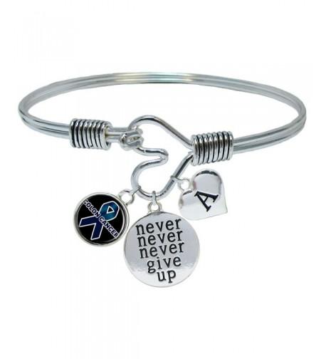 Custom Cancer Awareness Bracelet Initial