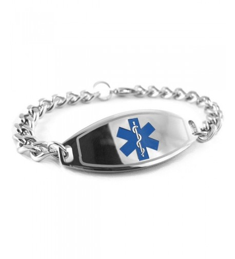 MyIDDr Pre Engraved Customized Diabetes Bracelet