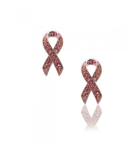 Spinningdaisy Breast Cancer Awareness Earrings