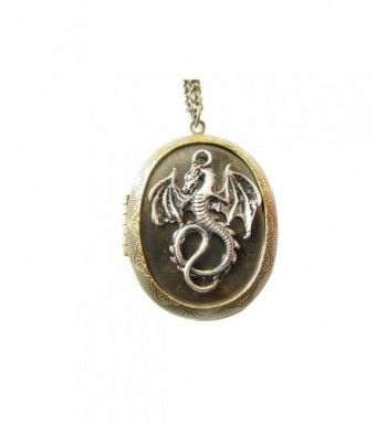 Antique Dragon Necklace Jewelry Gift vintage