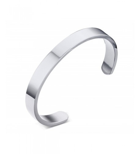Engraving Stainless Steel Bangle Bracelets