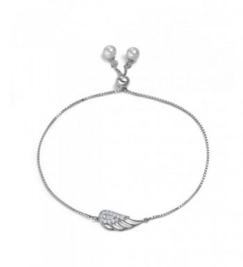 Womens Angel Bracelets Sterling Silver