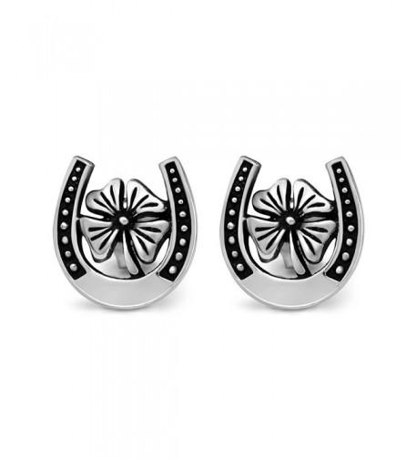 Sterling Silver Lucky Clover Earrings