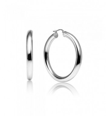 Sterling Polished Round Tube Click Top Earrings