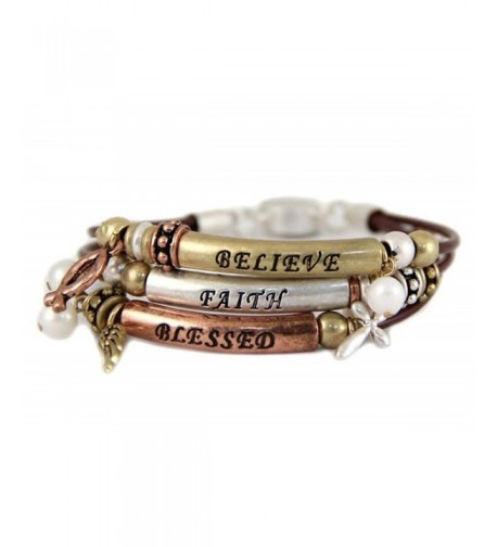 4030854 Believe Blessed Bracelet Knotted