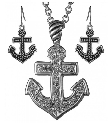 Necklace Nautical Rhinestones Jewelry Nexus