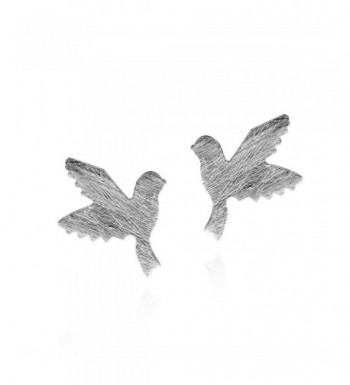 Doting Flight Textured Sterling Earrings