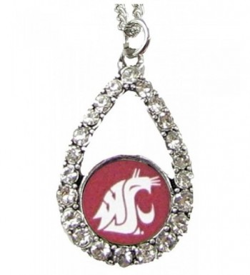 Washington Cougars Crimson Teardrop Necklace